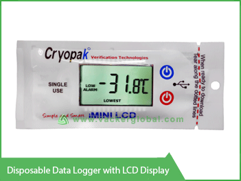 Disposable Data Logger with LCD display Vacker Kuwait