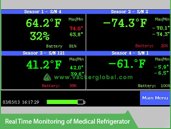 Real Time Temperature Monitoring for Medical Refrigerator - Vacker Kuwait