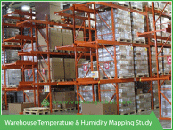 Warehouse temperature and humidity mapping study - Vacker Kuwait